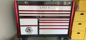 Red White And Black Matco 6s Double Bay Tool Box 27 Power Drawer With Usb Plug