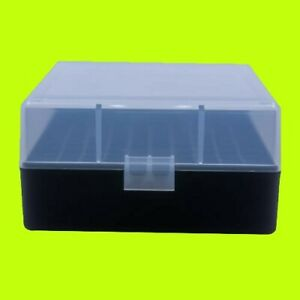 BERRY#x27;S PLASTIC AMMO BOX CLEAR BLACK 100 Round 223 556 300BLK BUY 4 GET 1 FREE $7.50