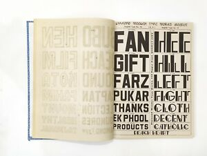 Vintage Specimen Book Of India Type Foundry Hindi English Etc Hard Bound Bk 3