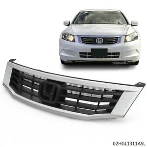 Front Upper Bumper Chrome Black Grille For Honda Accord 2008 2009 2010 New