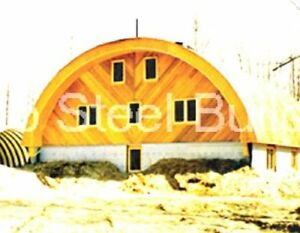 Durospan Steel 42x24x17 Metal Quonset Home Building Kit Open Ends Factory Direct