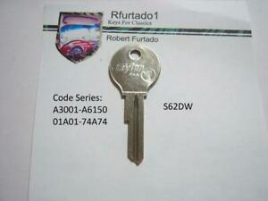 Key Blank For Volkswagen Beetle Squareback And 1500 Secondary 1954 66 S62dw