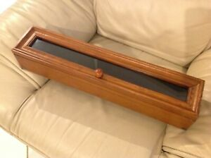 Vintage Wood And Glass Counter Display Case For War Metals Or Memorabilia