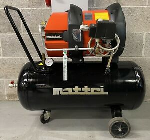 Mattei As1 Receiver Mounted Rotary Vane Compressor 1 5kw 5 65cfm Single Phase