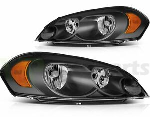 For 2006 2013 Chevrolet Impala Headlight Left Right Sides Replacement Headlamp