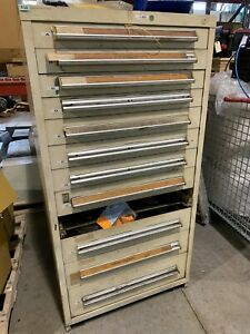 Stanley Vidmar Style 12drawer Cabinet Tool Parts Storage 59 Tall Missing Drawer
