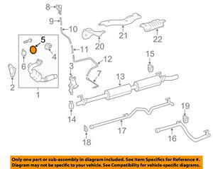Mercedes Oem 17 18 E400 3 0l V6 Exhaust System Elbow Seal 2204920281