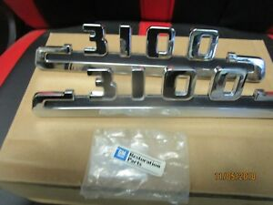 1953 1954 Chevy Gmc Truck Hood Side Emblems 3100 Pair