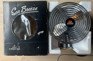 Vintage Acar Sea Breeze Hardwire Dash Fan Blower Car Truck Rv Boat Van 12v Nos