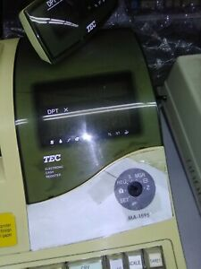Tec Ma 1595 Electronic Cash Register Pos Used Works Good Some Minor Scratches On
