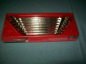 New Snap on 3 8 Thru 3 4 12 point Box Extra Long Wrench Set Oexl707b Sealed