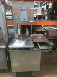Hollymatic Hy16 Hi yield Commercial Meat Saw 3 Ph 3 Hp 200 230v