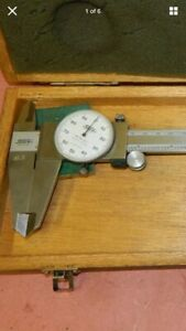 Spi 001 12 Dial Caliper With Wood Case 001
