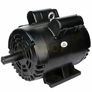 Air Compressor Electric Motor Single Phase 3 Hp 4 Pole 1750 Rpm 184t Frame Odp