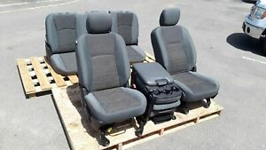 2013 2017 Dodge Ram 1500 Front Rear Seat Cloth With Center Console Set Oem