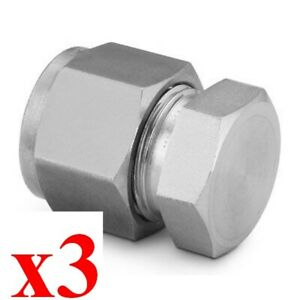 X3 New Swagelok Ss 1610 c 316 Stainless Steel Cap For 1 In Od Tubing