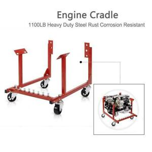 New Engine Cradle Stand For Chevrolet Chevy Chrysler V8 1000lb With Dolly Wheels