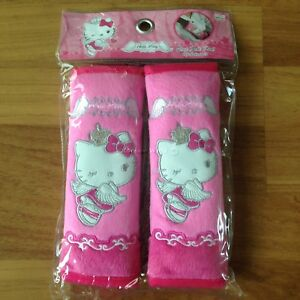 Authentic Hello Kitty Car Accessory 2 Pieces Seat Belt Covers Shoulder Pads