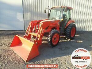 2015 Kubota M5140 Loader Tractor Cab Heat ac 4x4 3 Point 540 Pto 999 Hours 52 Hp