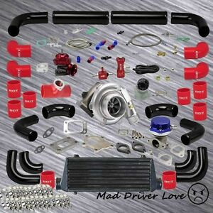 Universal T3 t4 Turbo Charger Intercooler Piping Kit Fast Spool Low Rpm Torque