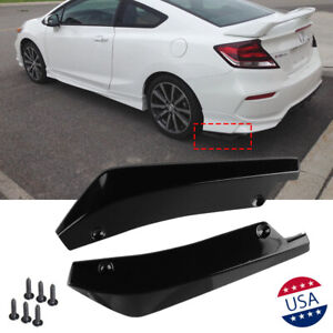 Jdm Sport Black Rear Bumper Lip Diffuser Splitter Canard Spoiler For Honda Civic