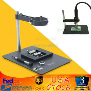 Hot Air Heat Gun Clamp Bracket Holder F 202 With Support Stand Repair Platform