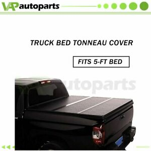 Vinyl Soft Tri Fold Tonneau Cover For 2017 Toyota Tacoma 5 Bed Truck Short Bed