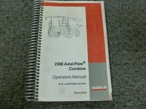 Case Ih 2388 Axial flow Combine Owner Operator Maintenance Manual Jjc0270500 up