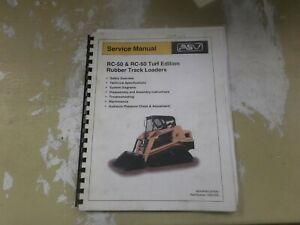 Asv Rc50 Rubber Track Loader Skid Steer Turf Edition Shop Service Repair Manual