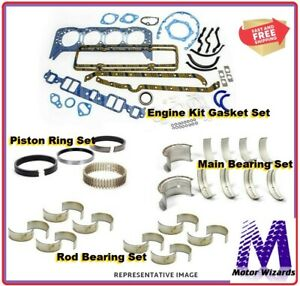 Engine Rebuild Kit Gm Chevy Vortec 350 5 7 1996 02 Rings rod Brg main Brg gkts