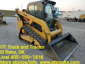 2016 Caterpillar 249d Cab A c Rubber Track Skid Steer Loader Joystick 1110hr Cat