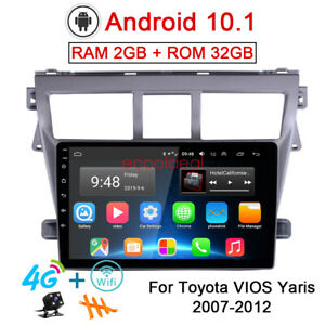 32gb Android 10 1 Radio Gps Navi 4g Car Dvd Player For Toyota Vios Yaris 2007 12