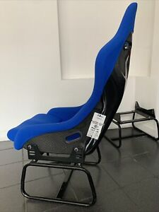F1spec Type 3 6 Racing Seat Fia Approved Blue Cloth Carbon Fiber Wow