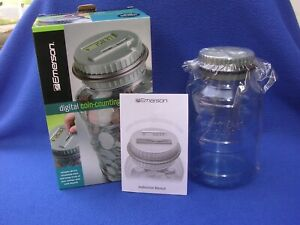 New Emerson Digital Coin Counting Money Jar with Lid and Original Box $19.99