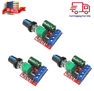 3pcs Mini Dc Motor Pwm Speed Controller 3v 35v Switch 5a Led Dimmer