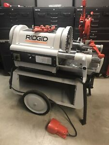 Ridgid 1224 Pipe Threader Threading Machine 300 535 700 141 greenlee rigid