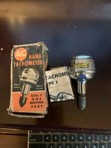 Vintage Ac Type No 1 Hand Held Tachometer With Original Box And Instructions