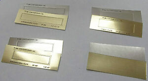 Cawley Plates no Fault kingsley Hot Stamp 8 Styles Gold Or Silver Pk 50