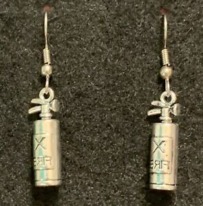 Fire Extinguisher Earrings Stainless Hook New Safety Awareness
