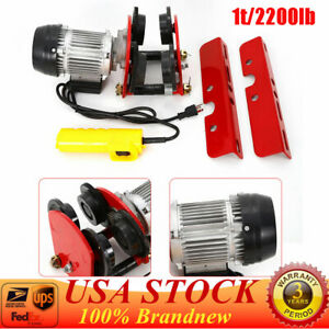 Wire Rope Cable 500w Electric Lift Hoist Pulley 2200 Lb 4ft All copper Motor
