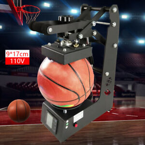 9 17cm Basketball football rugby Logo Printing Machine Ball Heat Press Transfer