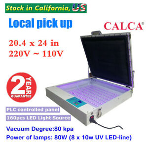 80w 20 X 24 Tabletop Precise Vacuum Led Uv Exposure Unit For Screen Printing