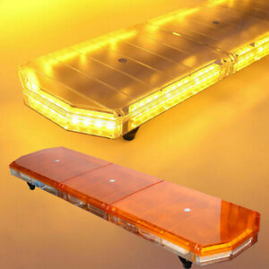 48 88led Amber Roof Strobe Light Bar Tow Truck Emergency Beacon Warning Plow Us
