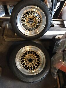 2 Wheels Pair Of Mercedes 8x16 Et24 Bbs Rs 023 Rs023 Pair 3