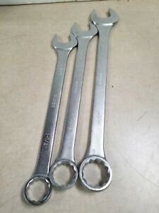 Lot Of 3 Klutch Super Jumbo Sae Combination Wrench Set