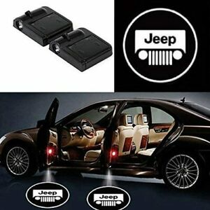 2x Wireless Led Car Door Logo Projector Courtesy Ghost Puddle Light Fits Jeeps