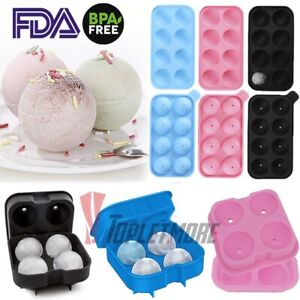 Ice Cube Maker Molds 4 8grids Mini Small Trays Silicone Bar Whiskey Cocktails