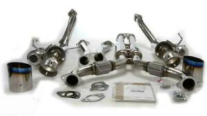 Hks Full Dual Stainless Steel Piping Exhaust For 2003 2007 Nissan 350z Vq35de