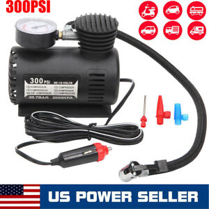 300psi Car Electric Air Pump Air Compressor Portable Tire Inflator For Car Bike