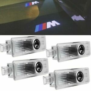 4pcs For Bmw Car Door Welcome Lights Courtesy Led Projector Ghost Shadow Light
